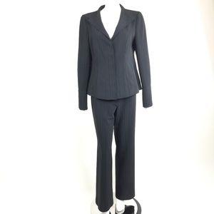 Armani Collezioni Black Pinstripe Pant Suit